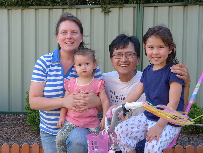 Irwan, Catherine and their family